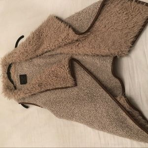 lambs wool cozy vest reversible